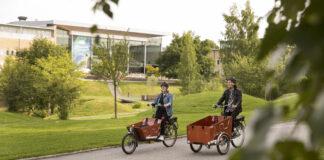 Umeå kommun, Lådcykel på Umeå Universitet. Campus.